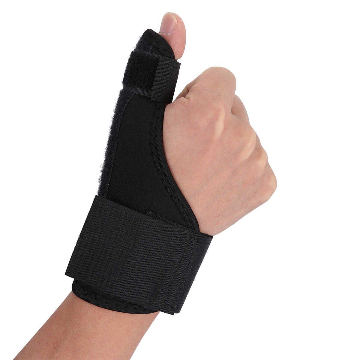 mano con ortesis de pulgar puesta